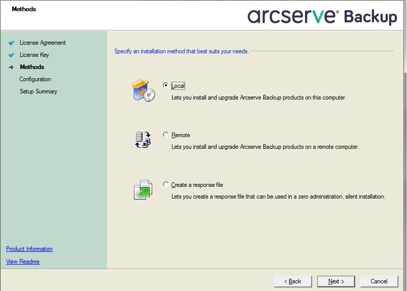 Arcserve Backup Help for Localization