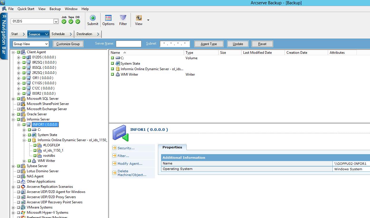 Arcserve® Backup for Windows Agent for IBM Informix