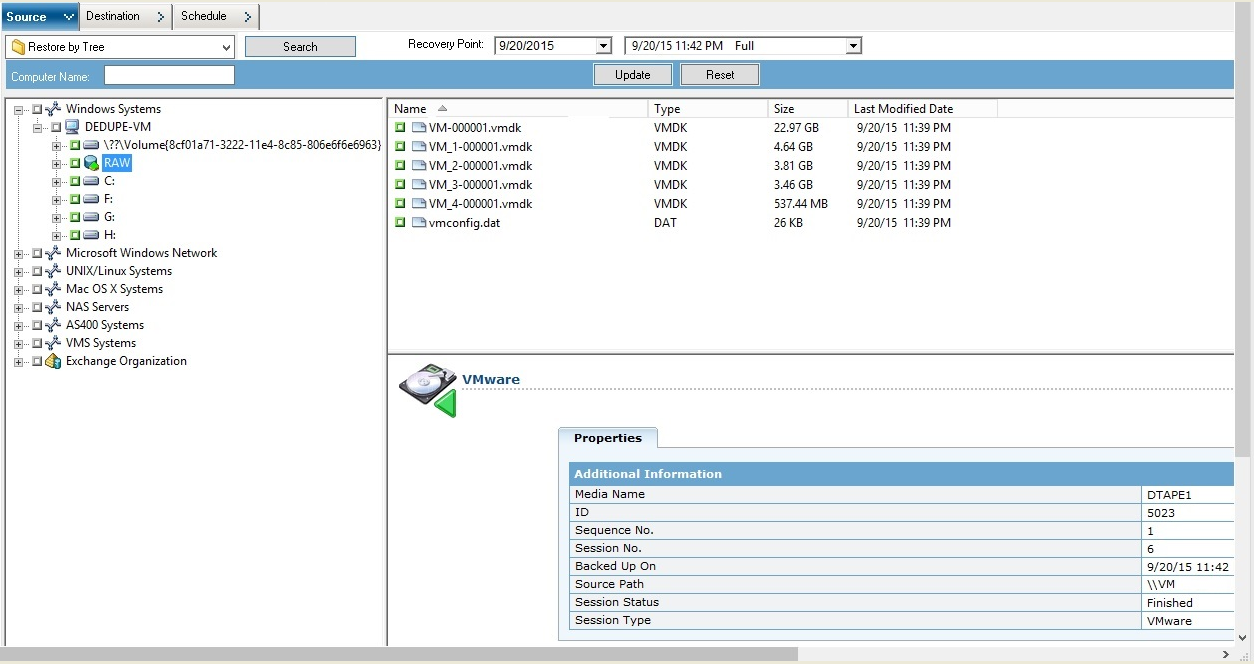 Arcserve® Backup for Windows Agent for Virtual Machines
