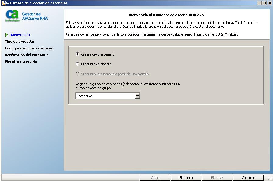 Ayuda en línea de CA ARCserve Replication y High Availability r16