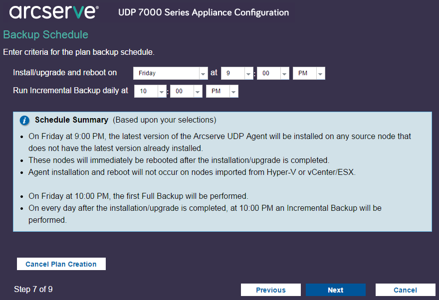 How To Set Up The Arcserve Udp Appliance And Create Plans