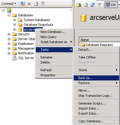 Arcserve udp 60 solutions guide 60 back up sql db ccuart Choice Image