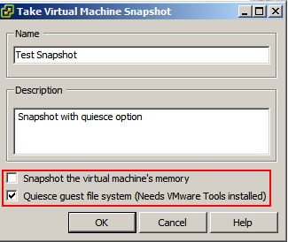failed to quiesce the machine