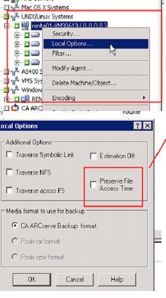 Symbolic Link Backup In Linux Agent Arcserve